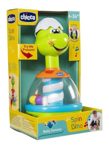 juguete bebe didactico bolitas spin-dino chicco babymovil