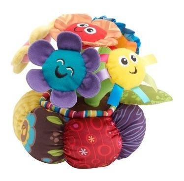 juguete bebe estimulación flores musicales con luces lamaze