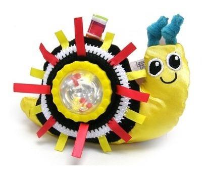 juguete bebe estimulación sonaja de caracol lamaze