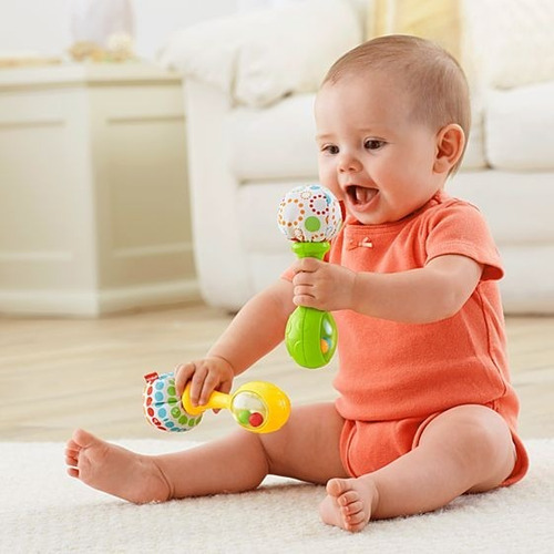 juguete bebe fisher price maracas divertidas cbh79 babymovil