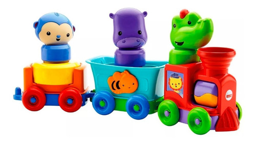juguete bebe fisher price tren animales divertidos babymovil