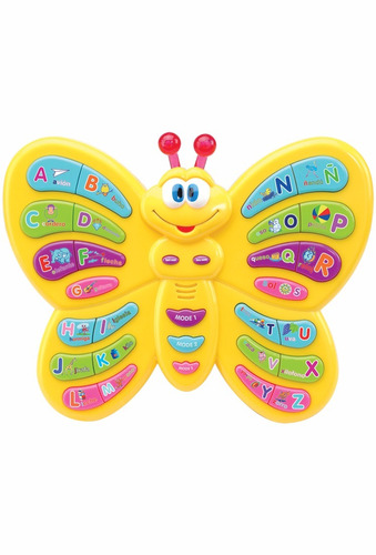 juguete bebe mariposa parlanchina luz abc musical outlet