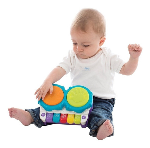 juguete bebe tambor playgro 2 en 1 light up music maker