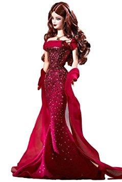 juguete birthstone muñeca barbie collection julio rubí
