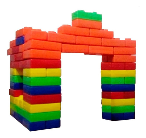juguete bloques ladrillos gigantes x 50 unidades babymovil