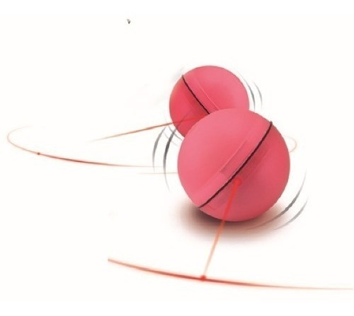 juguete bola con luz led y movimiento para gatos pethome