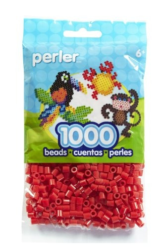 juguete bolsa de fichas perler rojo
