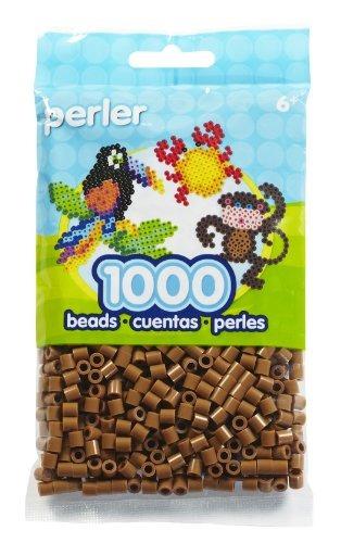 juguete bolsa fichas perler marrón