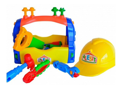 juguete caja de herramientas calesita niño nene casco