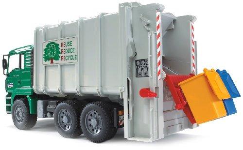 juguete camión de basura bruder toys gris