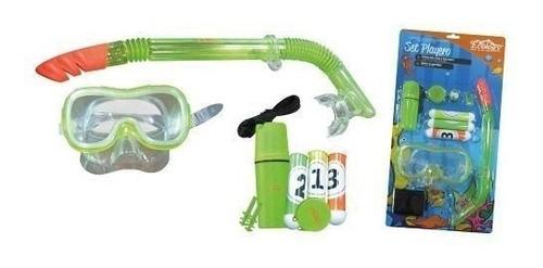 juguete careta y snorkel de niños para piscina ecology