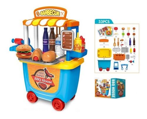 juguete carrito parrilla barbecue accesorio zippy full