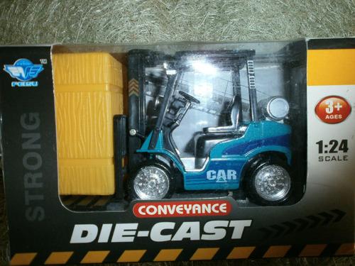 juguete carro escala 1-24 die-cast grua de carga fricciòn