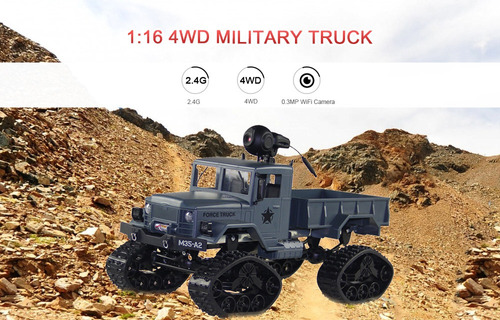 juguete carros rc motor cepillado camión wifi cámara 1/16
