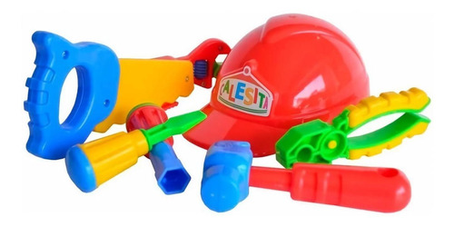 juguete casco con herramientas calesita 453 colores cuotas