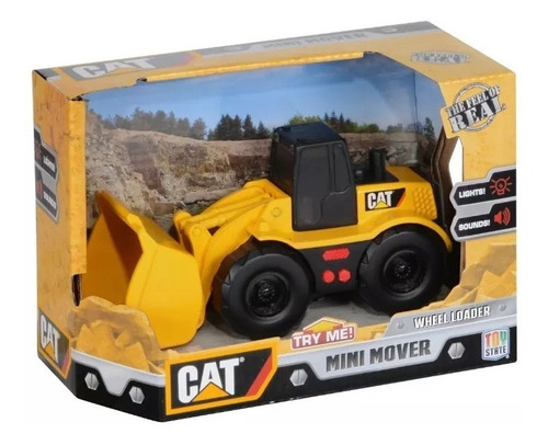 juguete cat machines maquinas gruas con luz y sonido 34611