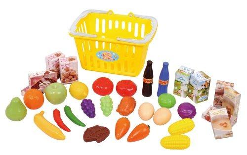 juguete cesta de compras playgo amarillo