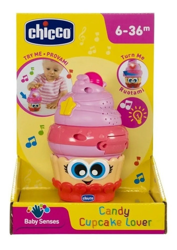 juguete chicco  electrónico candy cupcake lover