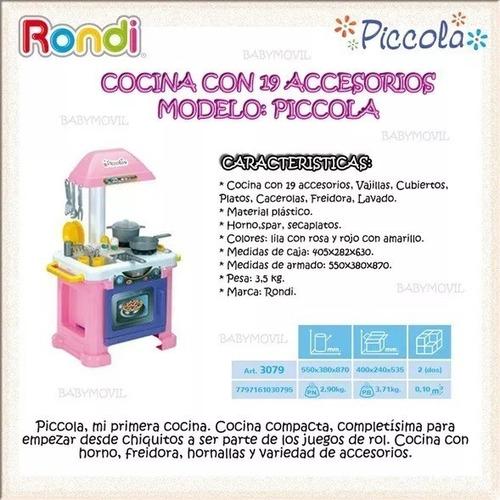 juguete cocina nena infantil piccola rondi accesorios full