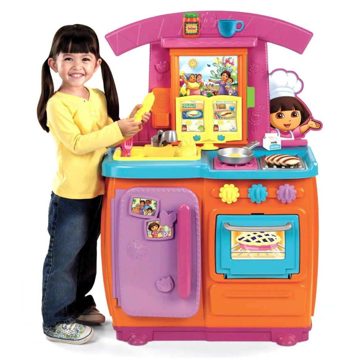 Cocinar Con Dora   Juguete Cocina Nina Fisher Price Dora La Exploradora Pm0