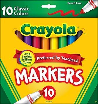 juguete colores crayola classic amplia línea 10 marcadores