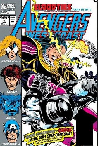 juguete comics x-men /avengers crossover  bloodties  1,2,3,4