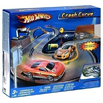 juguete crash hot wheels curva playset