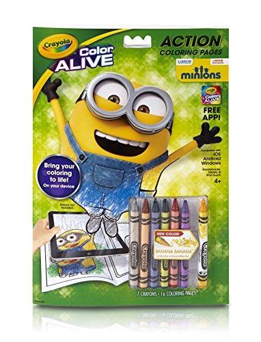 Juguete Crayola De Colores Vivos Animados Minions Páginas - $ 33.599 ...