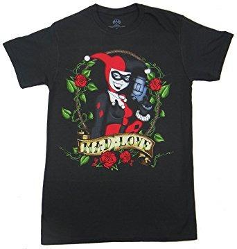 juguete dc comics harley quinn tatuaje de la camiseta negro