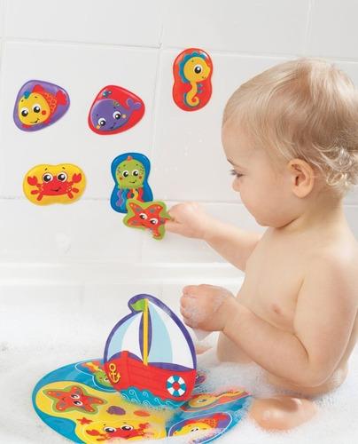 juguete de agua bebé playgro rompecabezas flotante