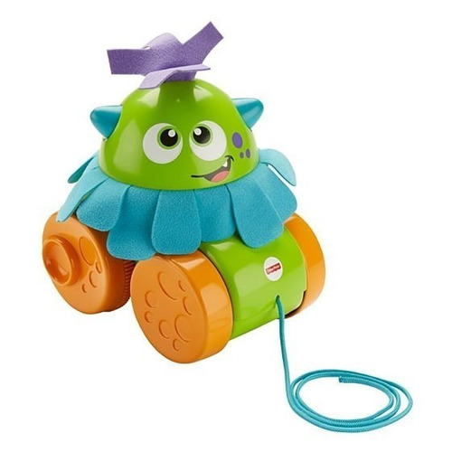 juguete de arrastre fisher price monstruo gira gira cuerda