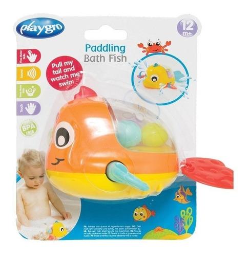 juguete de baño playgro paddling bath fish