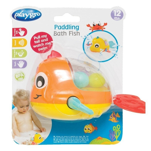 juguete de baño playgro paddling bath fish