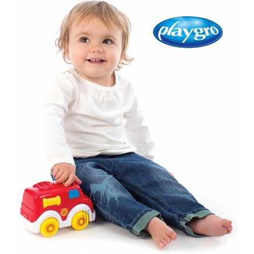 juguete de bebe camion de bomberos luces y musica playgro
