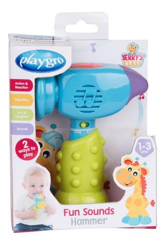 juguete de bebe martillo de sonidos divertidos playgro