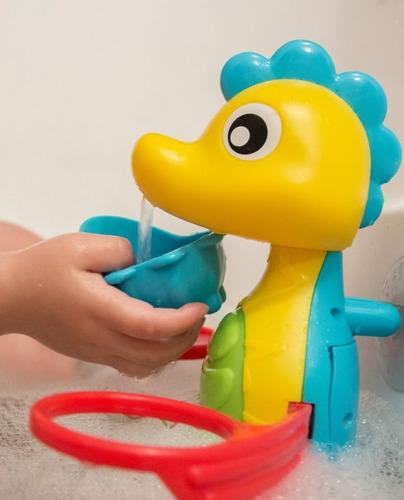 juguete de bebe para baño flowing bath tap & cups playgro