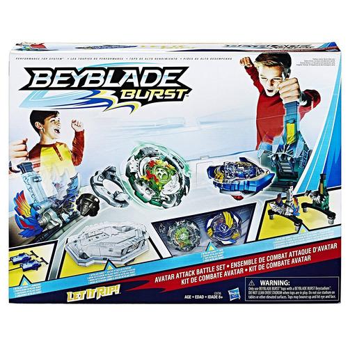 juguete de beyblade + estadio de peleas burst avatar attack