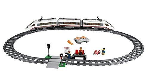 juguete de construcción de tren de pasajeros de alta
