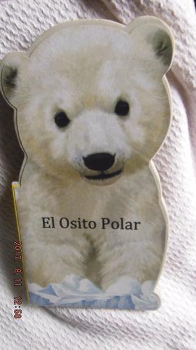 juguete de encastre de madera + librito del osito polar