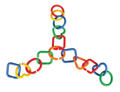 juguete de ensamble cadenas de plastico