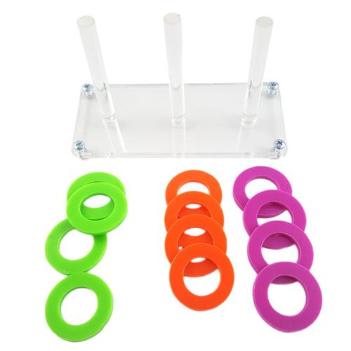 juguete de gimnasio loro chewing beak juego anillos intelige
