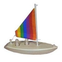 juguete de madera del barco de vela