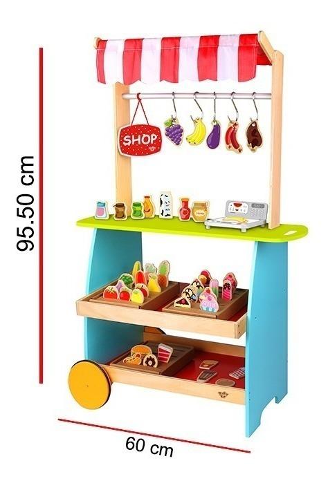 De Kiosco Muchos Didactico Oferta Juguete Madera Accesorios bfgvY76y
