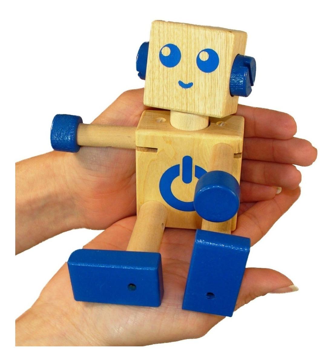 Robot Juguete De Articulado Madera Didáctico Krecos lFTKc1J3