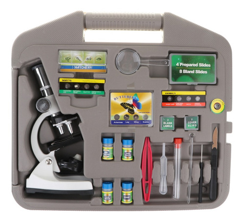 juguete de microscopio de aumento profesional 1200x con luz