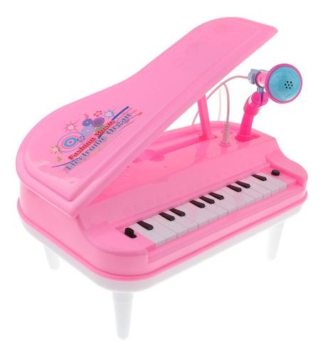 juguete de piano electrónico de simulación con micrófono