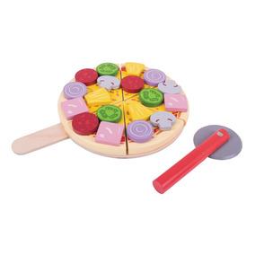 De Bigjigs Pizza Cortada Juguete Toys wuPiTOkXZ