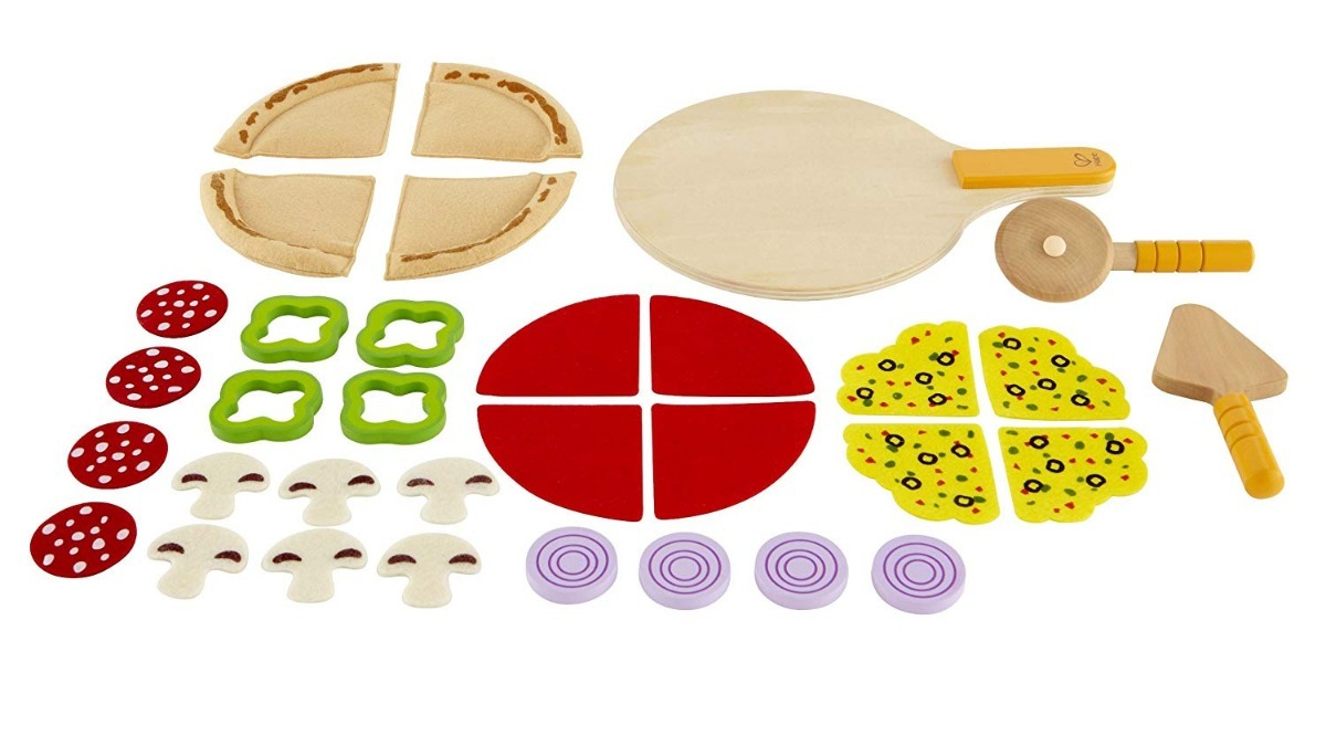 Juguete De Pizza Para Niños Hape Con Ingredientes
