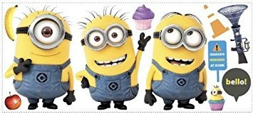 juguete despicable me 2 película minions giant wall decals