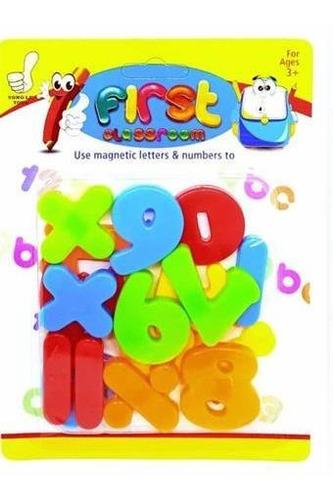 juguete didactico aprendiendo letras y numeros imantados